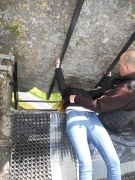 Kissing the Blarney Stone!