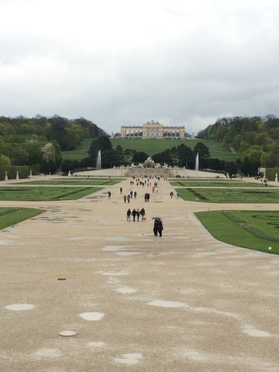 Gardens at Schonbrunn Palace in Vienna, Austria