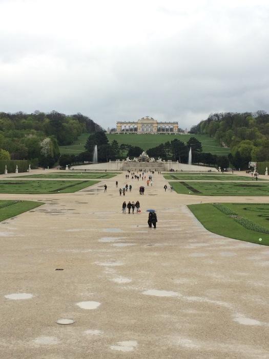 Gardens at Schonbrunn Palace in Vienna, Austria