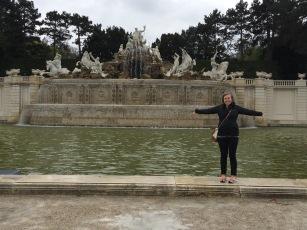 Neptune Fountain at Schonbrunn Palace in Vienna, Austria