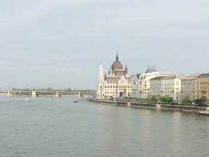 Parliament Building along the Danube River in Budapest, Hungary