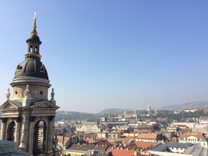 View from the bell tower of St. Stephen's in Budapest, Hungary