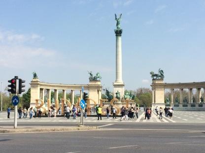 Hero Square in Budapest, Hungary