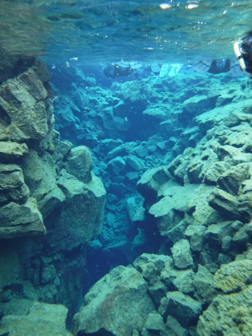 Snorkeling in Silfra Fissure in Thingvellir National Park, Iceland