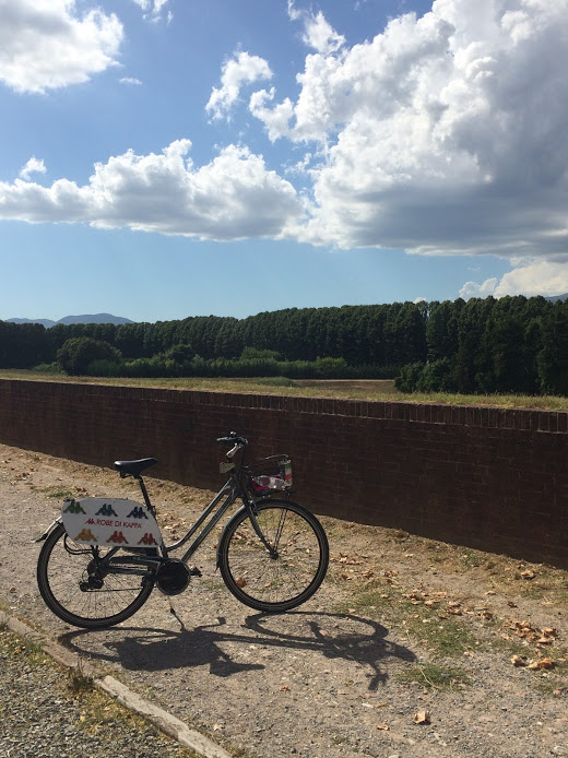 Lucca_Italy_bike_wall_view