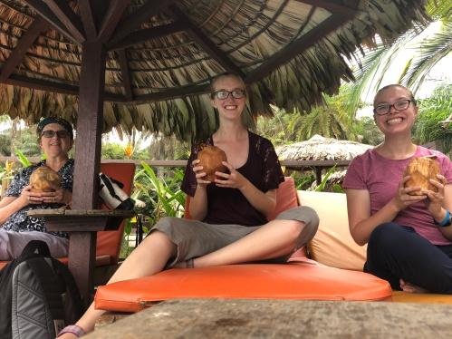 Liberia Libassa Resort coconut water